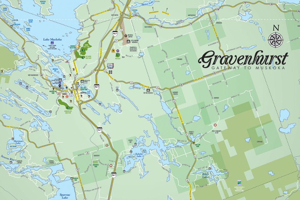 Gravenhurst Vector Map